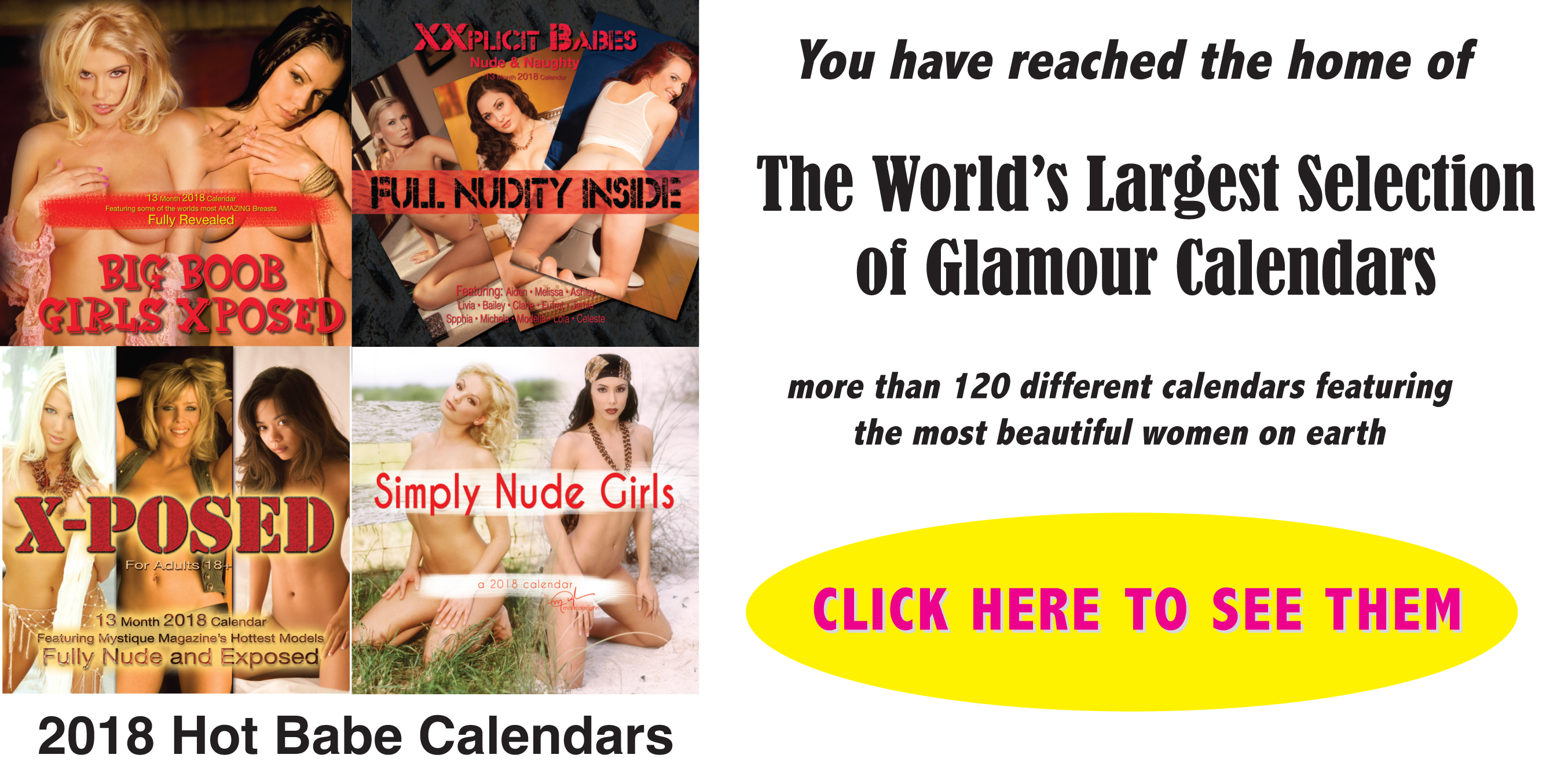 World's Largest Selection of Nude and Non-Nude Glamour Calendars